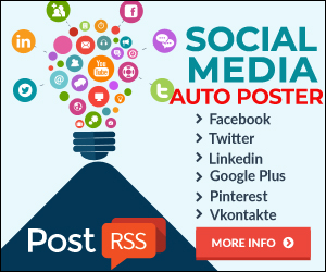 PostRSS Easy to Share Your RSS Content on Social Networks - Facebook fan pages, groups, and profiles, Twitter, Pinterest, Linkedin,Google Plus, Vkontakte